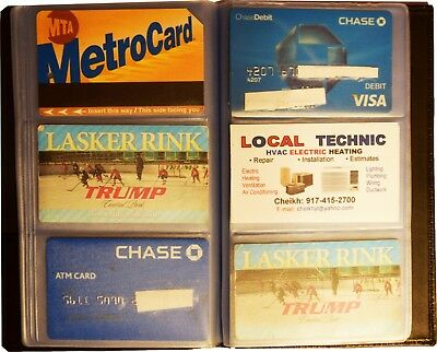 Lot of 5 new 60 to 120 business card case credit card IDs mini photos holder NWT 8