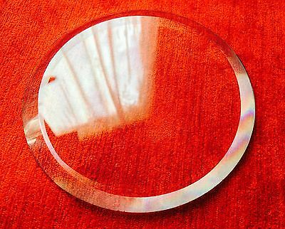 New Beveled Carriage Clock Glass :- 3mm thick 90mm x 40mm 35 Degree Bevel, Look 2
