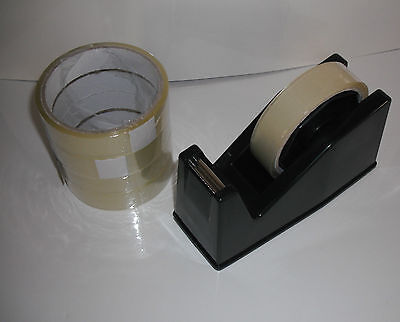 DESKTOP HEAVY DUTY WEIGHT SELLOTAPE CELLOTAPE TAPE DISPENSER with 5 FREE ROLLS 2