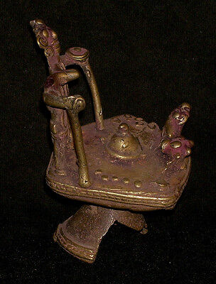 Antique Hindu Traditional Indian Ritual  Bronze Shiva Tribal Rare 3