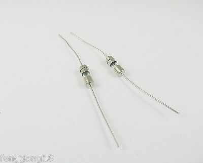 200pcs Glass Tube Fuse Axial Leads 3.6 x 10mm 0.5A 500mA Fast Quick Blow 250V