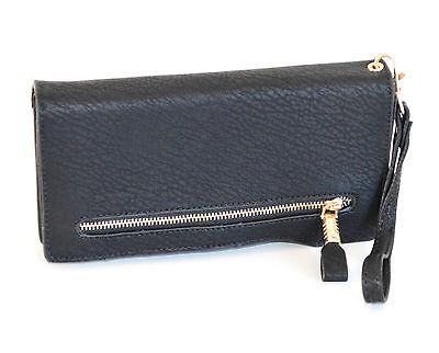ba641d3fac ... PORTAFOGLIO BORSELLO donna NERO zip oro borsellino da borsa pochette  clutch A12 2
