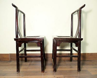 Antique Chinese High Back Chairs (Pair) (5427), Circa 1800-1849 10