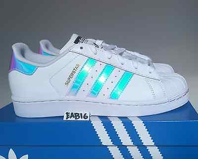 b1ddb8f0dec ... Adidas Superstar J Junior Iridescent Hologram GS AQ6278 Boys Girls  Shell Toe 3