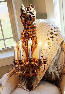 Antique Wall Candelabra Sconce Chandelier Gorgeous Details 2