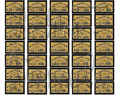 Rare 398/598/698/798,globe Wernicke® Bookcase Labels! Perfect Factory Re Issue! 2