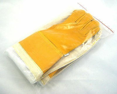 Childrens gold ventilated beekeeping Gloves (large and Small) 7