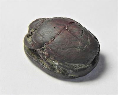 Zurqieh -Af1036-  Ancient Egypt, New Kingdom. Stone Scarab 1400 B.c 4