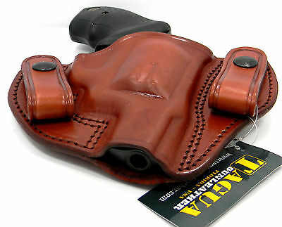 TAGUA BROWN LEATHER DUAL SNAP-ON OPEN TOP IWB HOLSTER for 1911 4