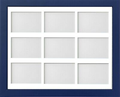 Frame Company Jellybean Dark Blue Wood Multi Aperture Collage Photo frame &Mount 5