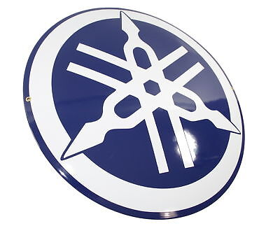 Enamel logo YAMAHA ⌀ 50 cm plaque collectable sign motorcycle metal emblem