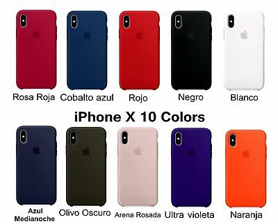 GENUINE SILICONE SOTTILE Custodia Cover per Apple iPhone X XS MAX