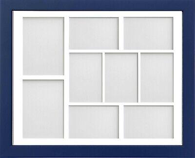 Frame Company Jellybean Dark Blue Wood Multi Aperture Collage Photo frame &Mount 7