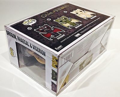 1 Box Protector For Many (Not All) FUNKO POP! 3 Packs  Read! Clear Display Case 10