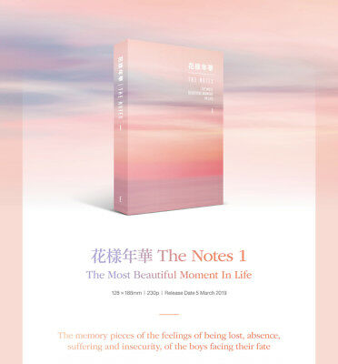BTS-[花樣年華 The Notes 1 The Most Beautiful Moment In Life] ENG 230p Book+Gift 2