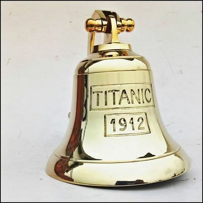 Brass Maritime Ship Bell Titanic Bell 1912 London Hanging Nautical Wall Decor 5