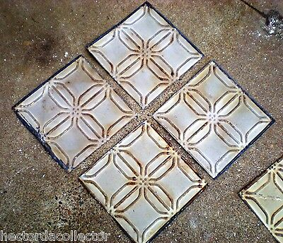 SALE Antique Ceiling Tin Tile Frame Simple and Elegant Shabby Chic Canvas 8
