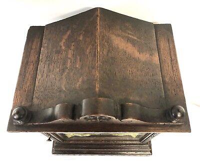 WINTERHALDER HOFFMEIER W & H Antique Oak Bracket Mantel Clock SERVICED 9