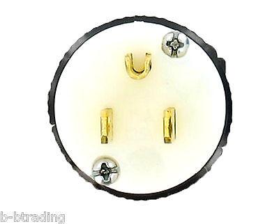TEMCo NEMA 5-15P Male Plug 15A 125V Straight Blade Stinger Replacement UL Listed