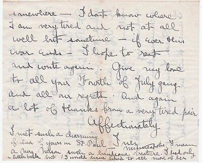 1918 Autograph Signed Letter Suffragette Feminist - Inez Haynes Gillmore Irwin 3