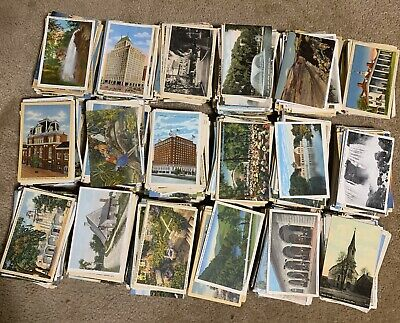 Used & Unused. Lot of 50+ USA Vintage Postcards,1900- 1950s.We ❤️ Our Customers! 2