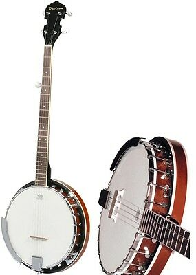 New 5 String Banjo Full Size with Closed Back 24 Brackets Remo Head & Maple Neck 9
