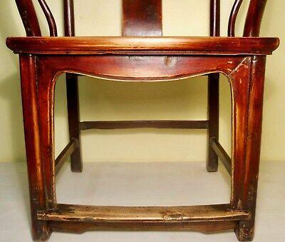 Antique Chinese Ming Arm Chair (2775), Cypress/Elm, Circa 1800-1849 7