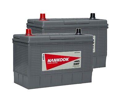 2x Hankook 12V 130Ah Batterie Décharge Lente Pour Caravane, Camping Car Bateau 2