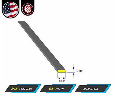 "3/16"" x 5/8"" Flat Bar - Mild Steel - Metal Stock - Plain Finish - 60"" Long 2"