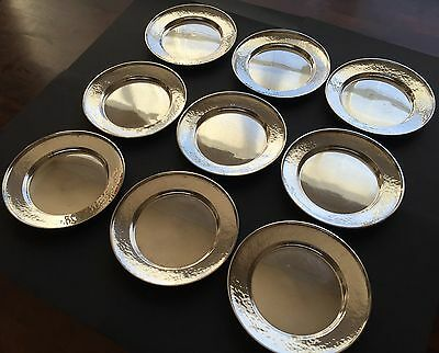 Set of 9 G. H. French & Co. Sterling Silver Bread Plates (1920s), No Monogram 2