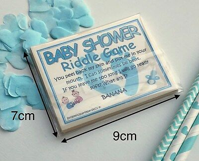 Baby Shower Boys Riddle Party Games Adult Humour 4