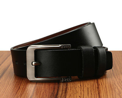 Men's Greek Key Metal Buckle Handcrafted Needlepoint Genuine Leather Jean Belt 4