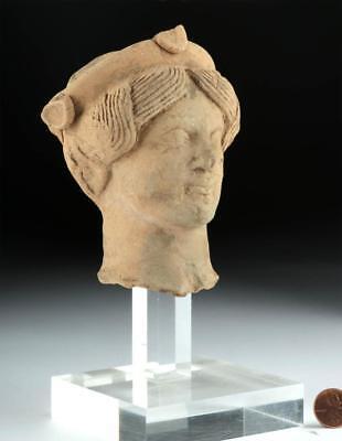 Lovely Greek Pottery Protome of a Goddess Lot 18