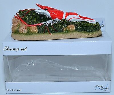 Shrimp Red, Fish Tank Ornament Aquarium, Fish Decoration Aqua Della 3