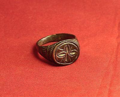 Ancient Roman Legionary Seal Ring, Finger Ring, 2. Century 3
