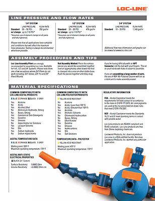"""(2) 2-1/2"""" Flare Nozzles 1/2"""" Loc-Line® USA Original Modular Hose System #51809 7"""