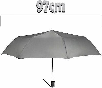 🌂Ombrello Mini Portatile Grigio Apertura Automatico Antivento Pioggia Cod.8065 4