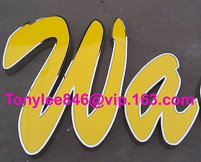 Channel letter, made of stainless steel and arylic, 15-inch tall, customized siz 4