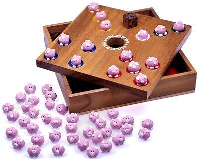 Pig Hole Big Hole Schweinchenspiel Würfelspiel Gesellschaftsspiel Holz - 2. Wahl 3