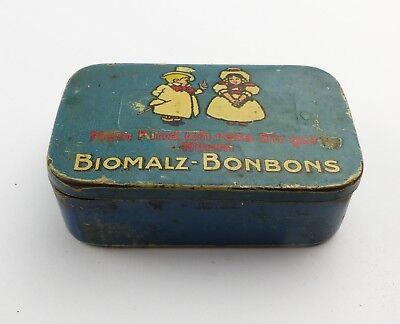#e8275 Alte Blechdose Biomalz Bonbons mit original Werbezettel innen sehr selten 3