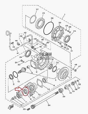 Yamaha Rhino Rear Differential Pinion Seal Yxr450 Yxr660 700 F1 4 X