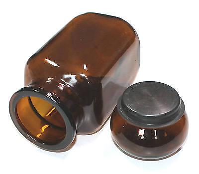 Apothekerflasche Gefäß Braunglas Vorratsbehälter Labor Küchendeko Gewürzglas 2