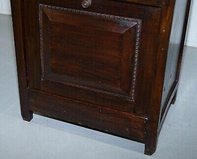 Victorian Mahogany Piano Stool Bauhaus Upholstery Internal Music Storage Drawer 8