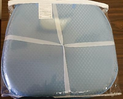 SET OF 4 KITCHEN CHAIR PADS CUSHIONS w/strings, BLUE, Double sided,  15\