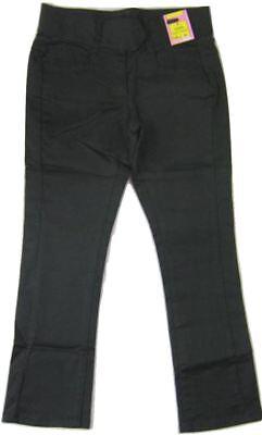 Girls Trousers Black Stretch Cotton Sateen Narrow Slim Leg Sizes 7-16 years 2