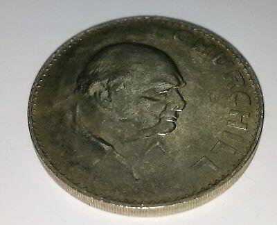 Winston Churchill Silver Crown Coin 1965 Prime Minister Great Leader Hitler UK 3