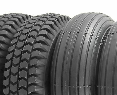 Set of 4 Black Solid 3.00-4 300x4 Scooter Tyres (2 Block 2 Rib Tread) (260x85)