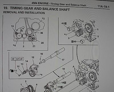 4m40 engine Parts manual