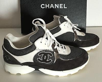 sale retailer 16104 2d4b1 CHANEL SNEAKER SNEAKERS Schuhe Sandalen grau weiß silber 39 grey white 2.55  Bag