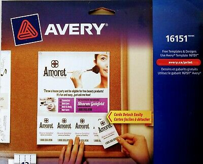 Avery Tear-Away Card Flyers - Mate White AVE16151 -  5 Flyers 120 Cards Ink-Jet 2